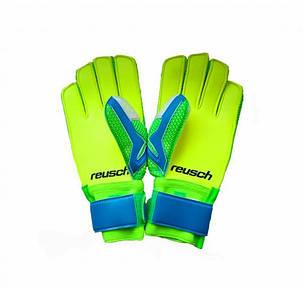Перчатки Вратарские Reusch replica салатово-голубые [5][6][7], фото 2