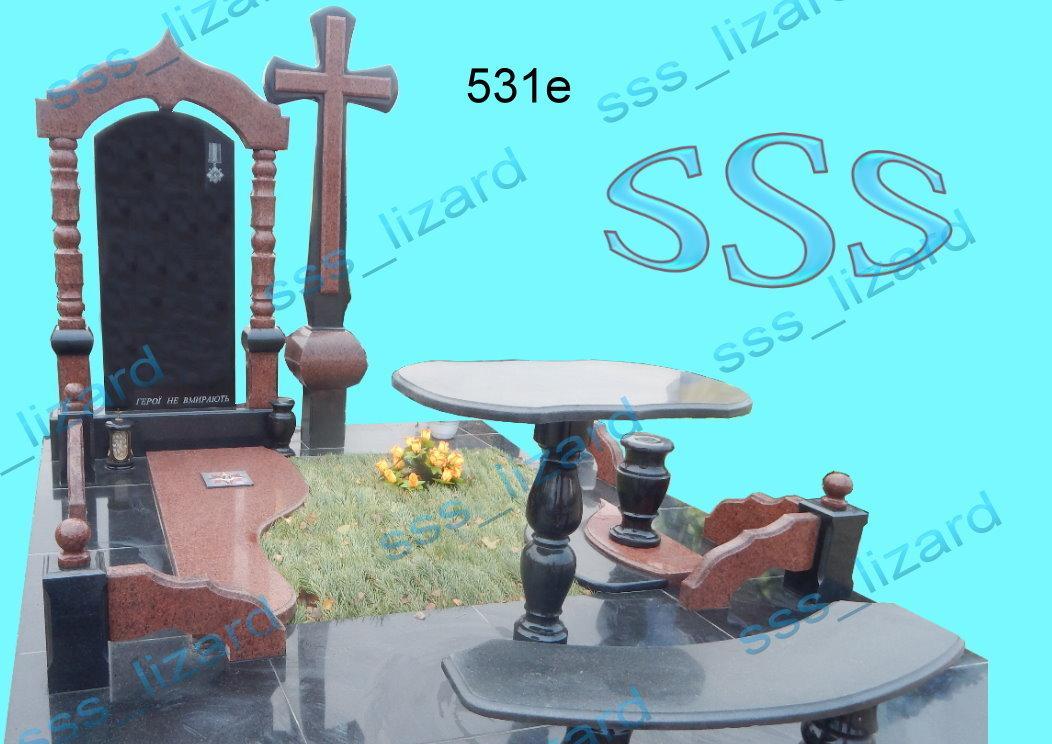 Памятник для двоих из гранита арт.531е