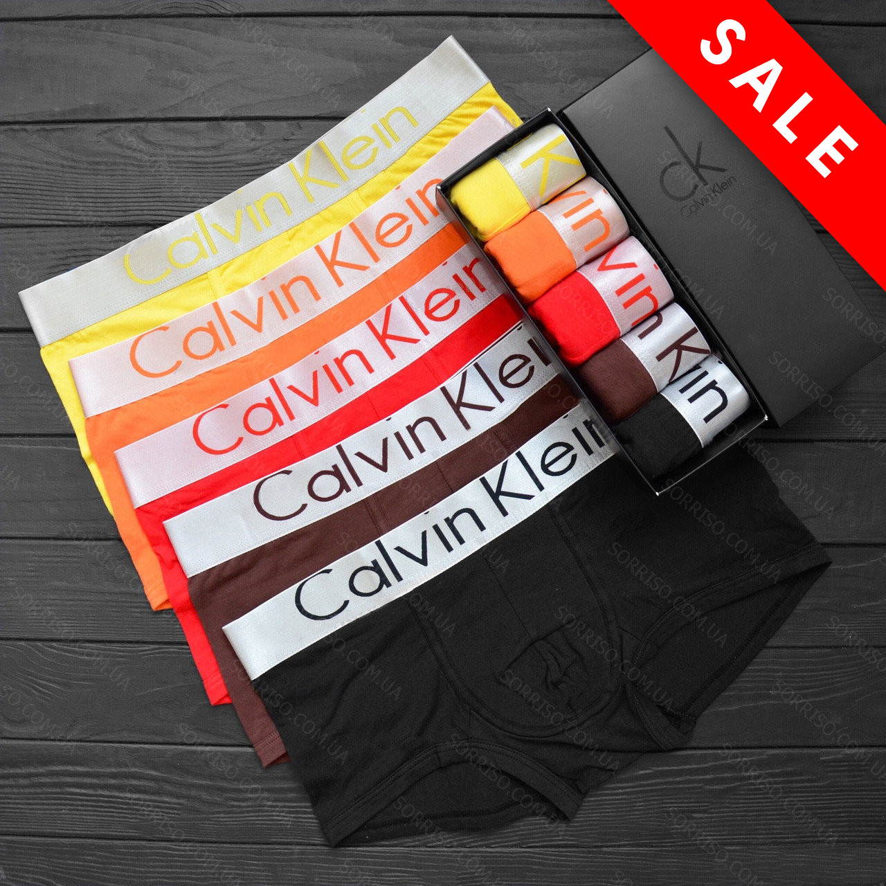 600e3853b77e6 Calvin Klein Набор 5 шт мужского нижнего белья Steel боксеры реплика -  Интернет-магазин «