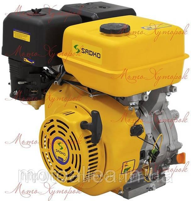 Двигатель бензиновый Sadko GE 400 мощность 13 л.с., ручной запуск, шпоночный вал.