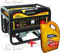 Бензиновый генератор FORTE FG 3500 - Акция! Масло или доставка в Подарок! Мощность 2,5 кВт