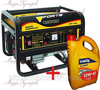 Бензиновый генератор FORTE FG 3500 Е - Акция! Масло или доставка в Подарок! Мощность 2,5 кВт, эл.стартер