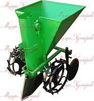 Картофелесажалка (сажалка) тракторная КС-1 однорядная, навесная транспортерная, бункер на 70-80 кг, фото 1