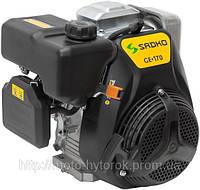 Двигатель бензиновый SADKO GE 170 мощность 4 л.с, ручной запуск, увеличенный моторесурс