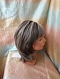 Парик каскад с пробором из термоволокна пепельно-русый микс 1919-RH12, фото 4