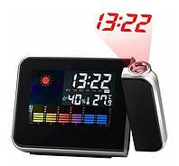Часы с проектором времени 8190, электронные проекционные часы метеостанция, фото 1