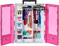 Игровой набор куклы Барби модный гардероб шкаф розовый 6 вешалок Barbie Fashionistas Ultimate Closet Accessory