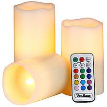 Светодиодные свечи VOLRO Luma Candles с пультом White (vol-225)