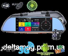 Видеорегистратор зеркало  на Android c GPS, wi-fi, SIM картой, Bluetooth. Видео регистратор зеркало