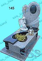 Эксклюзивный одинарный памятник из гранита арт.145