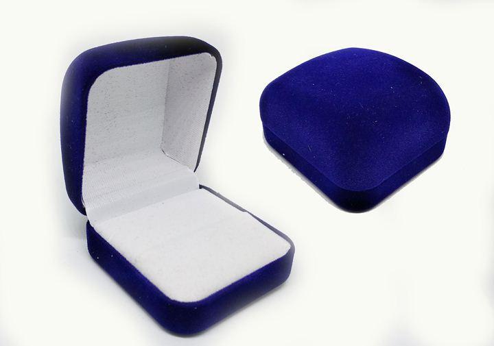 Футляр бархатный синий для кольца или кулона