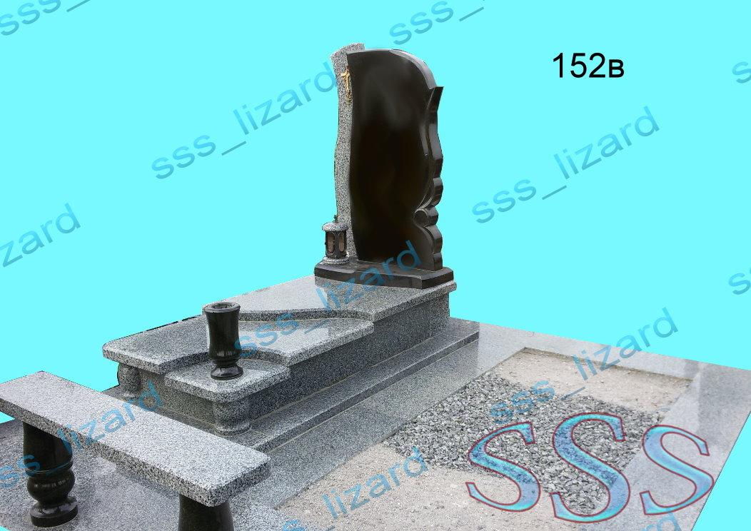 Эксклюзивный одинарный памятник из гранита арт.152в