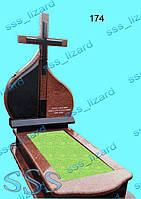 Эксклюзивный одинарный памятник из гранита арт.174