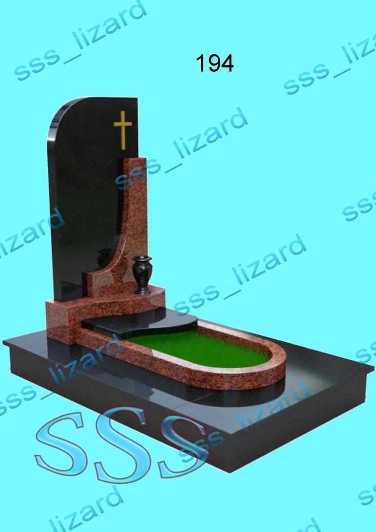 Эксклюзивный одинарный памятник из гранита арт.194