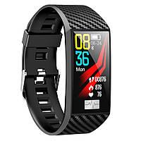 DT58 смарт часы тонометр давление крови ЭКГ кардио пульсомер трекер для iPhone Android фитнес браслет черный