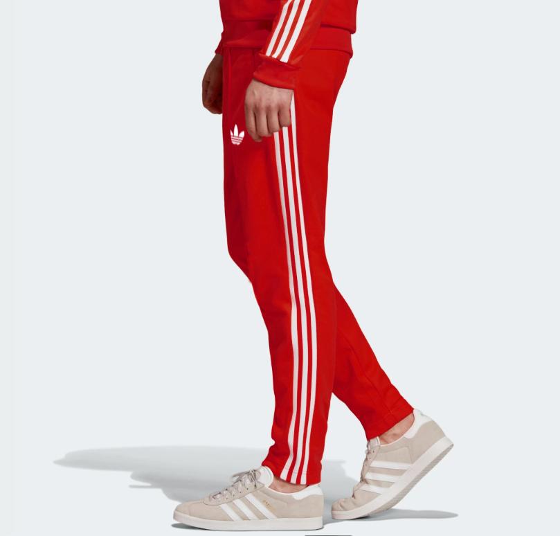 Демисезонные спортивные штаны для тренировок Adidas Adicolor Scarlett Red  (Адидас)
