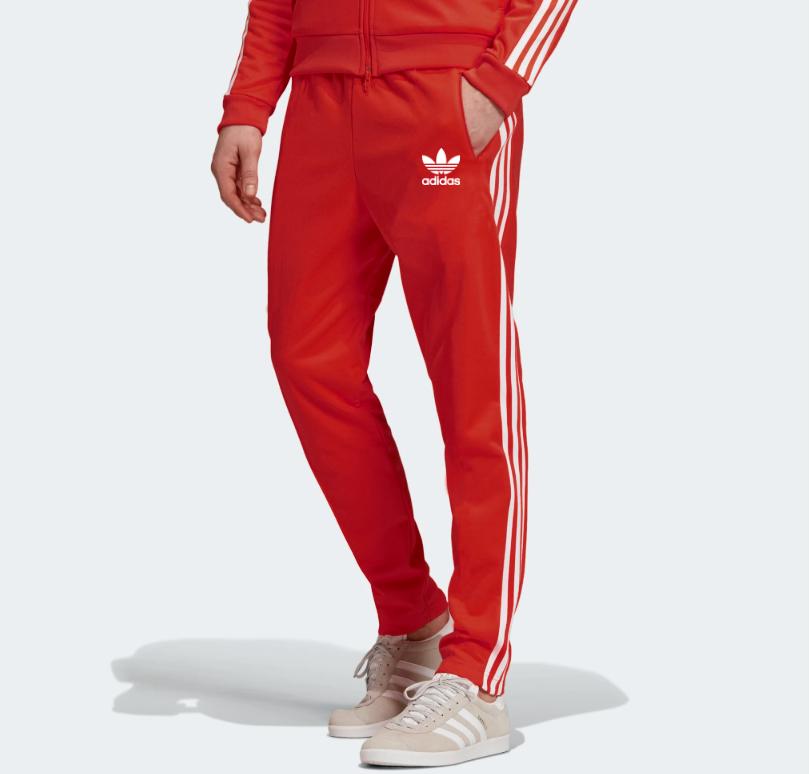 Мужские летние спортивные штаны Adidas Adicolor Scarlett Red  (Адидас)