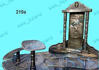Эксклюзивный одинарный памятник из гранита арт.219а