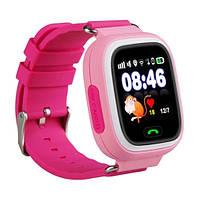 Детские телефон-часы с GPS трекером Smart Watch Q90 pink