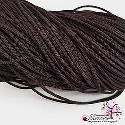 Полиэфирный шнур для вязания, 4 мм,  т. коричневый