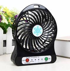 Міні вентилятор Portable Fan настільний, переносний Чорний