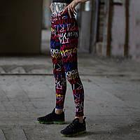 Спортивные леггинсы женские Пушка Огонь Сalligraphy, фото 1
