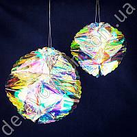 """Подвеска шар-соты для декора """"Хамелеон"""", перламутровый, 22 см"""