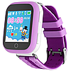 Детские умные смарт часы Smart Baby Watch Q100s с GPS трекером lilac, фото 2