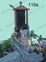 Эксклюзивный одинарный памятник из гранита арт.118а