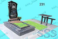 Эксклюзивный одинарный памятник из гранита арт.231