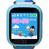 Детские умные смарт часы Smart Baby Watch Q100s с GPS трекером blue