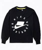 Кофта жен. Nike W Nsw Nsp Crew Flc Ft Bf (арт. AR3052-010), фото 1