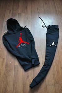 Чорний чоловічий спортивний костюм Jordan (Джордан)