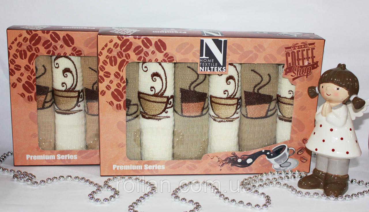 Набор турецких кухонных полотенец NILTEKS Coffe