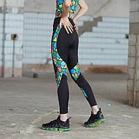 Спортивные леггинсы женские Пушка Огонь Abstraction, фото 1