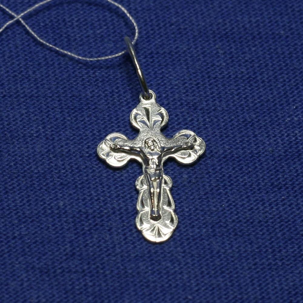 Ювелирный крестик из серебра с распятием 3578-б, фото 1