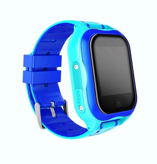 Smart baby watch A32 Детские умные часы blue