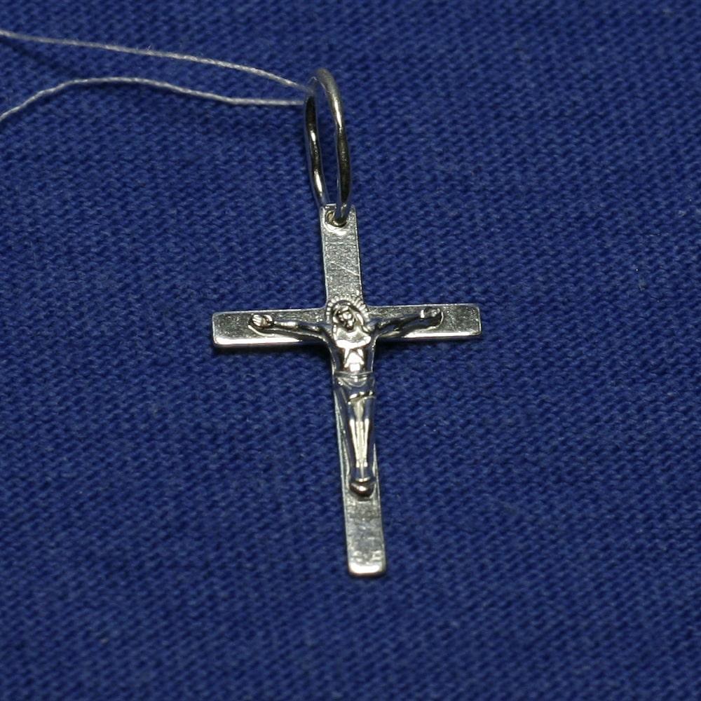 Серебряная подвеска Крест с распятием 3700-б, фото 1