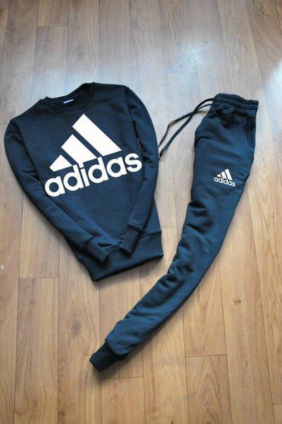 Тренировочный мужской летний споривный костюм Adidas (Адидас)