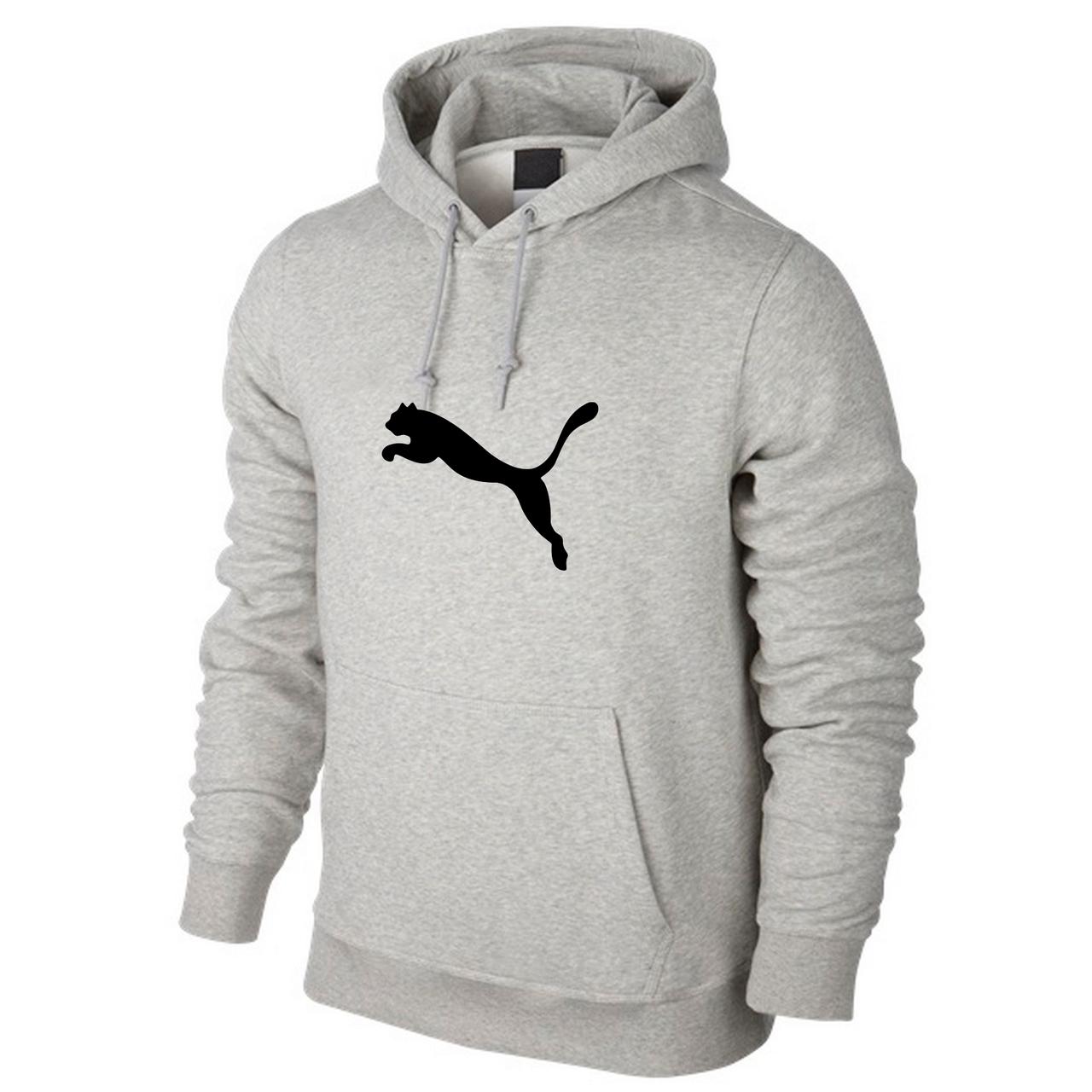 Спортивная кофта кенгуру Puma, серая