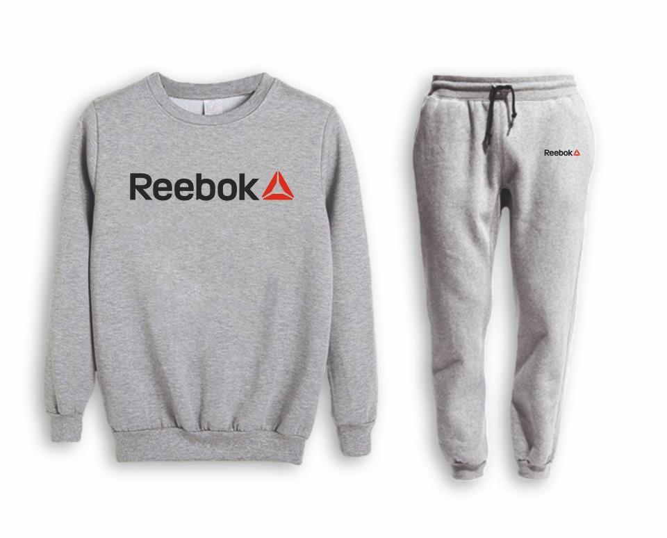 Сірий чоловічий літній тренувальний костюм Reebok(Рібок)