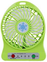 Міні вентилятор Portable Fan настільний, переносний Зелений