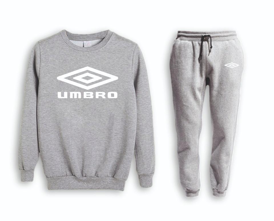 Спортивный костюм Umbro (Умбро), серый, реглан, на манжете