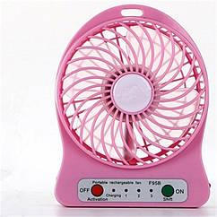 Міні вентилятор Portable Fan настільний, переносний Рожевий