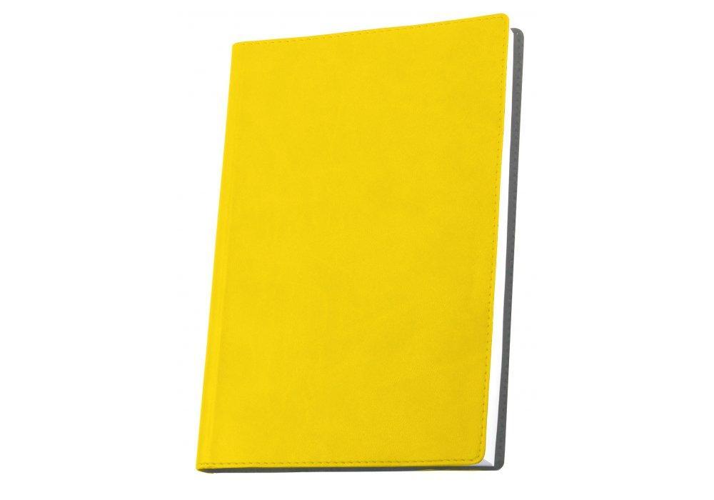 Деловая записная книжка А5, Optima Vivella, твердая обложка, нелинованная, желтая