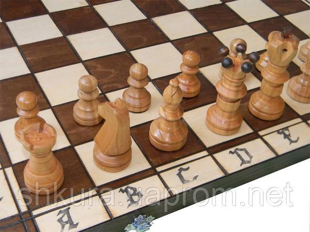 Деревянные шахматы 54 x 54 см. Амбассадор, фото 1