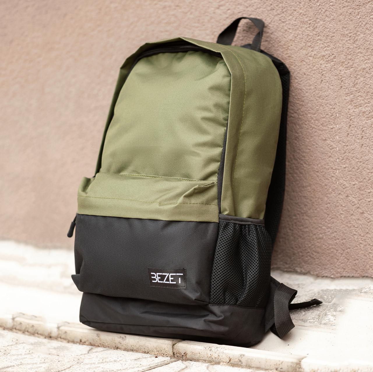 Рюкзак BeZet BLACK/KHAKI