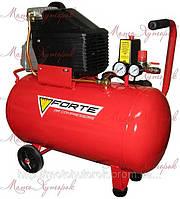 Компрессор Forte FL 50 поршневой, ресивер 50 л, производительность 200 л/мин., мощность двигателя 2 л.с.