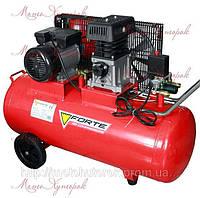 Компрессор Forte ZA 65-100 поршневой, одноступенчатый, ременной, ресивер 100 л, производ. 335 л/мин.