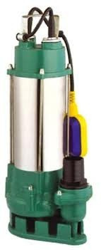 Насос погружной фекальный WERK V750F-A для откачки загрязненных и сточных вод с крупными частицами, 300 л/мин
